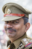 军人画象在即将来临的印度共和国天游行的排练活动参与 德里新的印度 库存图片