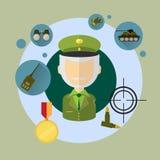 军人Icon司令员 库存图片