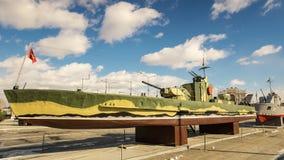 军史博物馆的军舰展览,俄罗斯, Ekaterinburg, 31 03 2018年 免版税库存图片