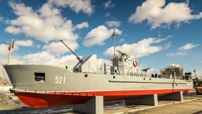 军史博物馆的军舰展览,俄罗斯, Ekaterinburg, 31 03 2018年 免版税图库摄影