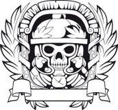 军团,黑白例证 免版税库存照片