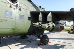 军备直升机 库存照片