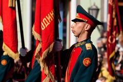 军校学生卫兵荣誉称号 免版税图库摄影
