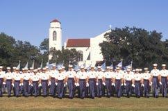 军校学生回顾,城堡军事学院,查尔斯顿,南卡罗来纳 免版税库存照片