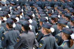 军校学生游行 库存照片
