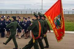 军校学生的军校学生誓言在俄罗斯的卡卢加州地区分类2016年9月10日的 免版税库存照片