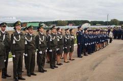 军校学生的军校学生誓言在俄罗斯的卡卢加州地区分类2016年9月10日的 库存图片