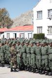 军校的毕业生接受新的ID 免版税库存照片