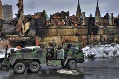 军械库城市魁北克废墟 库存图片