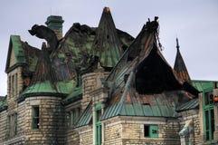 军械库城市魁北克废墟 免版税库存图片