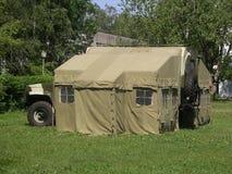 军用俄国帐篷 免版税库存照片