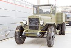 军用卡车 Pyshma, Ekaterinburg,俄罗斯- 8月16日, 2015 M 库存照片