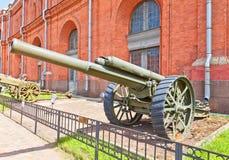 军用品127 mm英国BL 60有一磅重量的东西重的野战炮 图库摄影