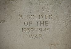 军用墓碑在法国 库存照片
