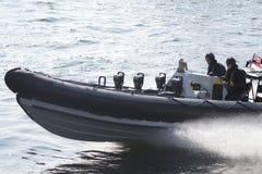 军用小船 免版税库存照片