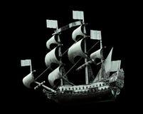 军用模型老船 免版税库存图片