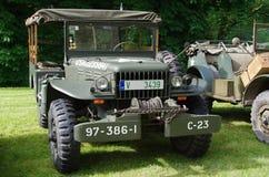 军用汽车1945年 库存照片