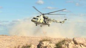 军用直升机登陆 股票录像