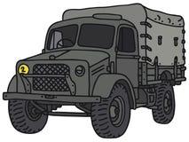 军用老卡车 免版税库存照片