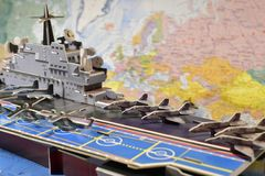 军用设备政治地图  免版税图库摄影