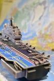 军用设备政治地图  免版税库存照片