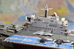 军用设备政治地图  库存照片