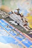 军用设备政治地图  免版税库存图片