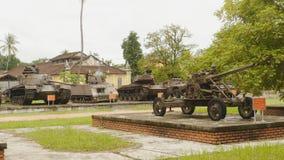 军用设备的陈列在颜色城市博物馆城市夺取了