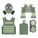 军用身体装甲标志装甲集合力量设计和美国战斗机弹药海军伪装标志传染媒介 库存例证