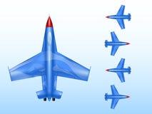 军用飞机导航战时航空的例证并且与飞机或超音速轰炸机喷气机象交战 库存例证