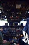 军用飞机驾驶舱 库存图片