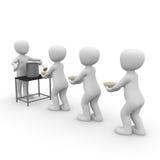 军用餐具 免版税库存图片