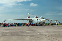 A-42军用水上飞机, Gagarrog,俄罗斯, 2013年5月18日 库存图片