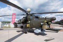 军用直升机MI-28 免版税库存照片
