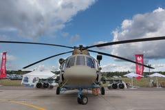 军用直升机Mi8 库存照片