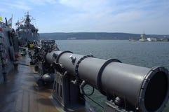 军舰甲板 库存照片