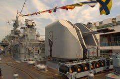 军舰甲板 免版税库存图片