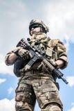 军队别动队员 库存照片