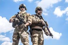 军队别动队员 免版税库存图片