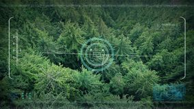 军队在森林谷的寄生虫POV飞行 影视素材