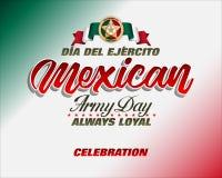 军队天庆祝在墨西哥 皇族释放例证