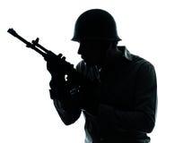 军队战士人画象 免版税库存照片