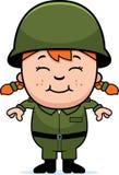 军队战士女孩 免版税库存照片