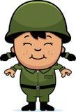 军队战士女孩 库存图片