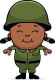 军队战士女孩 免版税库存图片