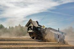 军队比赛2017 安全路线比赛秋明州 俄国 免版税库存图片
