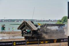军队比赛2017 安全路线比赛秋明州 俄国 免版税库存照片