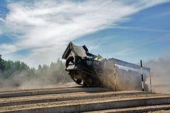 军队比赛2017 安全路线比赛秋明州 俄国 库存图片
