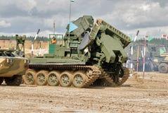 军队比赛2017 安全路线比赛秋明州 俄国 库存照片