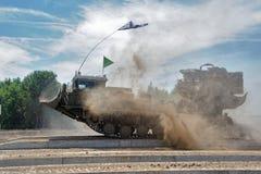 军队比赛2017 工程学惯例contestRussia 免版税库存照片